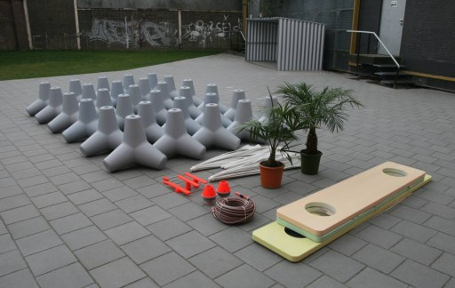 Seascape, modular landscape for playgrounds, exploded view