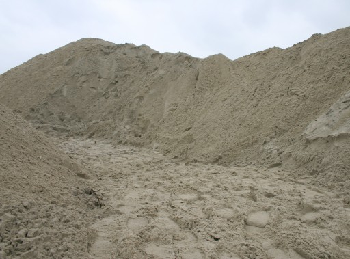 Heap of sand in Houten